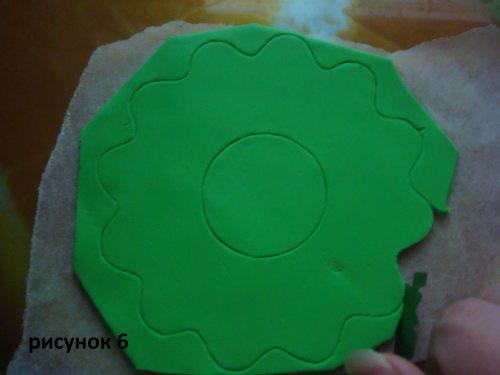 Зеленый цветок
