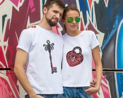 Парные футболки ключ о
