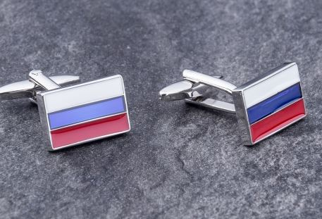 Запонки российский флаг