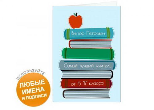 Именная открытка лучший учитель