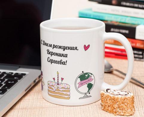"""Именная кружка """"С днем рождения"""""""