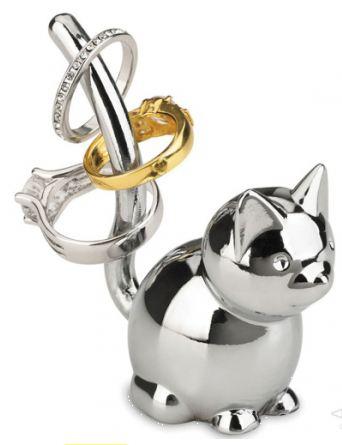 Подставка для колец кошка
