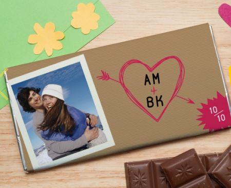 """Шоколадная открытка """"Любимые инициалы"""""""