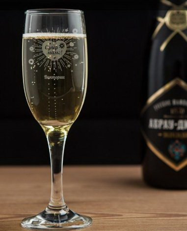 Бокал для шампанского супермаме