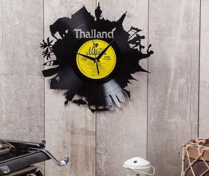 Часы из виниловой пластинки Таиланд