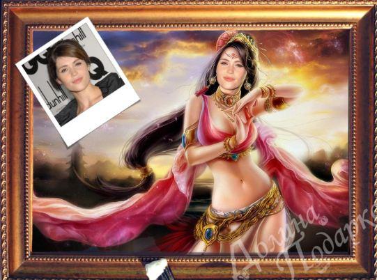 Портрет по фото принцесса жасмин