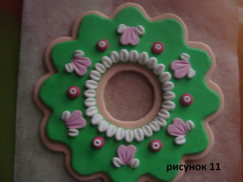 Новогодняя игрушка из полимерной глины