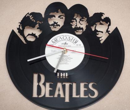 Часы виниловая пластинка битлз
