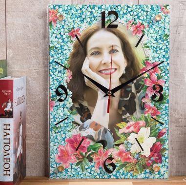 Настенные часы королева цветов