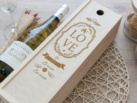 Коробка для вина молодоженам