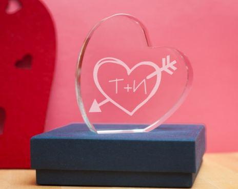 Стеклянная награда сердце