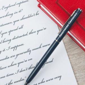 """Шариковая ручка с гравировкой """"Верные решения"""""""