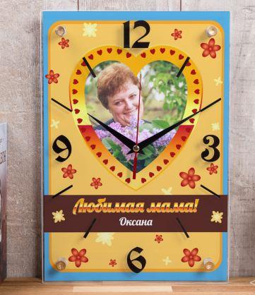Часы с фото маме