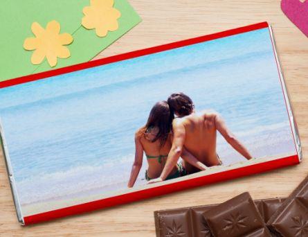 Шоколадная открытка с фото
