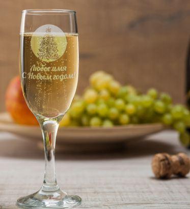 Бокал для шампанского новогодняя елка