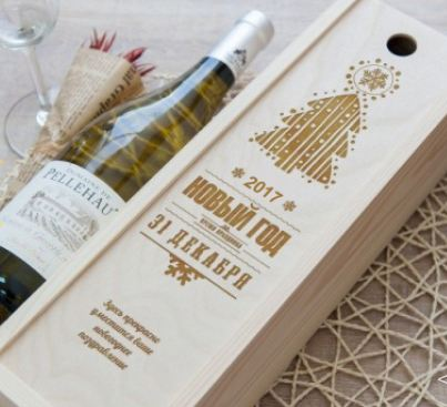 Коробка для вина ёлка