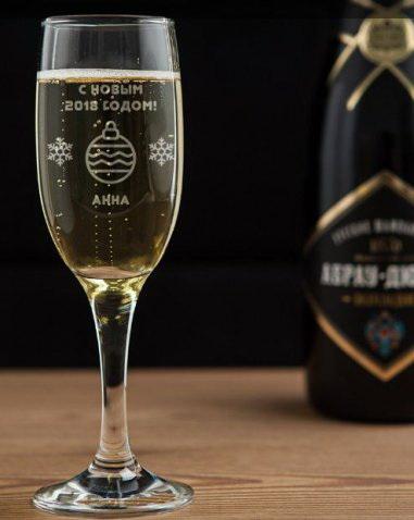 Бокал для шампанского новый год