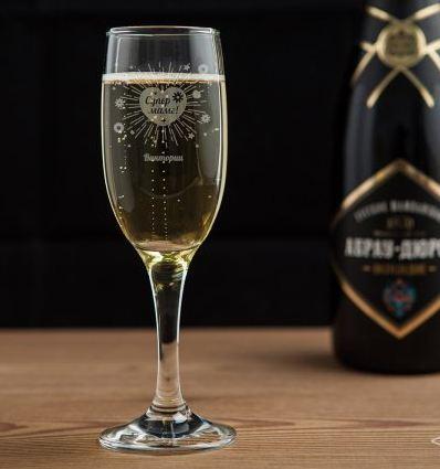 Бокал для шампанского мама