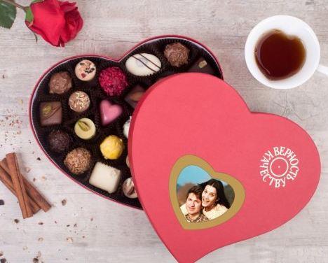 Фотонабор конфет ручной работы щедрое сердце