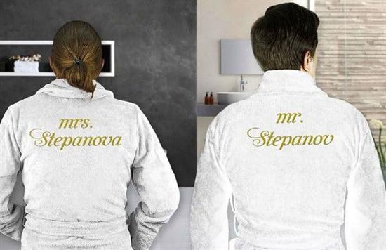 Комплект именных халатов мистер и миссис
