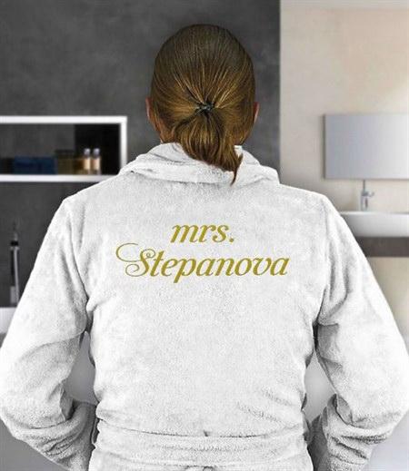 Женский именной халат миссис