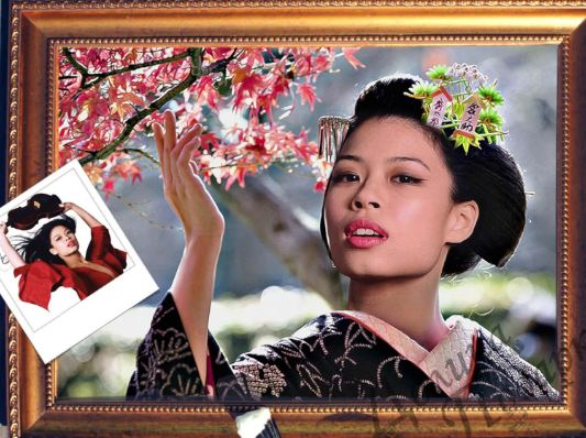 Портрет по фото розовое дерево