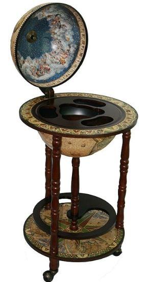 Напольный глобус бар сокровища древнего мира