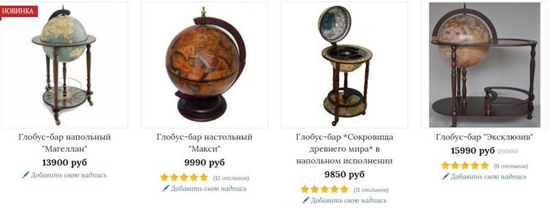 Оригинальный подарок глобус-бар