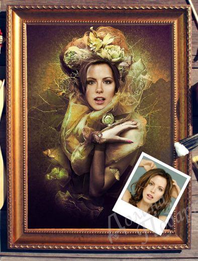 Портрет по фото лесная фея